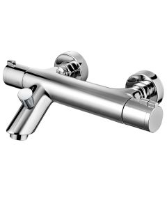 Francis Pegler Haze Chrome Wall Mounted Bath Shower Mixer Tap with Shower Kit
