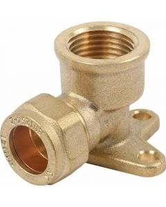 15mm Back Plate Elbow Compresion Pipe Fitting