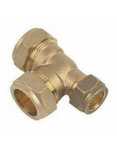22mm x 15mm x 22mm Tee Compression Pipe Fitting