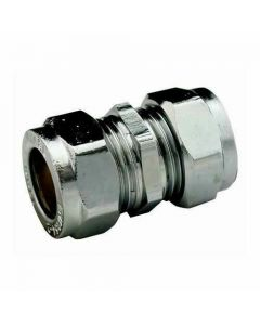 22mm Chrome Coupling Compression Pipe Fitting