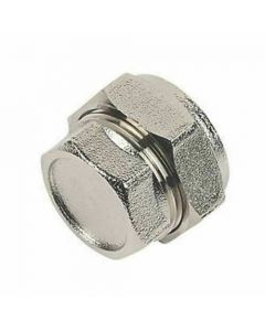 22mm Chrome Stop End Compression Pipe Fitting
