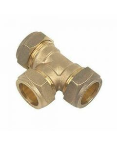 22mm Tee Compression Pipe Fitting