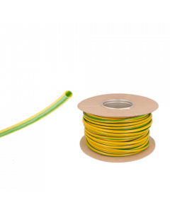 Green / Yellow Neutral PVC Wire Sleeving Electrical Cable 3mm 100m