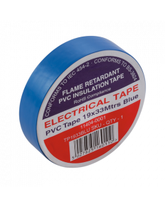 Blue Electrical PVC Insulation Tape 19mm x 33m