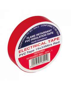 Red Electrical PVC Insulation Tape 19mm x 33m