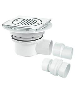 MCALPINE TRAPPED SHOWER GULLY 50MM WATER SEAL